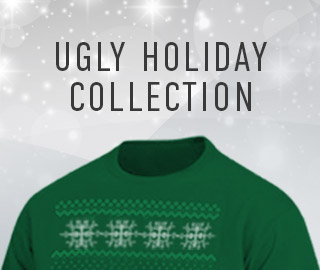 Picture of a Christmas sweater. Click to shop the Ugly Holiday Collection.